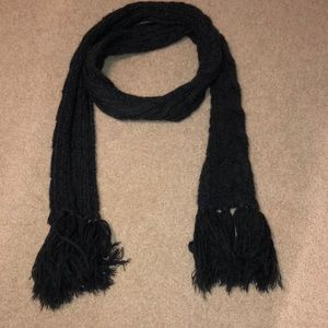 Aeropostale Dark Grey Knitted Scarf